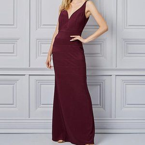 2/$40 NWT Le Chateau Wine/Plum Fit & Flare Gown XXL